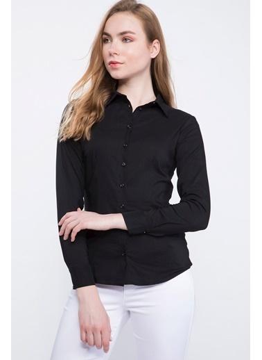 DeFacto Basic Uzun Kollu Gömlek Siyah